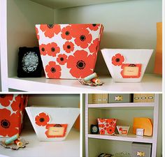 Repurpose Cereal Boxes: Storagebins  http://modgreenpod.blogspot.com/2009/05/mgp-diy-storage-bins-from-urban-nest.html