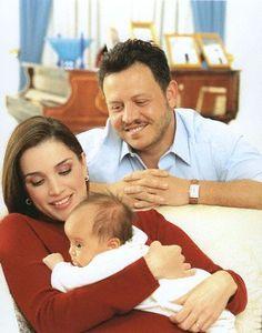 King & Queen of Jordan with baby princess Salma  #royals