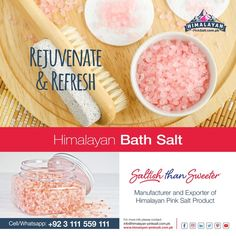 Himalayan salt bath trace the necessary elements for the health and body and re-mineralizes your human anatomy. Himalayan Salt Bath benefits for the upper skin are also great. For order Contact us: (+92) 311-1559111 Email: info@himalayan-pinksalt.com.pk #himalayan_salt_manufacturer #himalayan_salt_exporter #himalayan_pinksalt_exporter #himalayanpinksalt #himalayansalt #HimalayanbathSalt #himalayanpinksalt #organic #naturalproduct