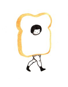 Happy halloween, everyone! This is my wanna-be sexy toast costume.