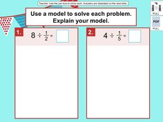 dividing a whole number by a unit fraction #DigiCore
