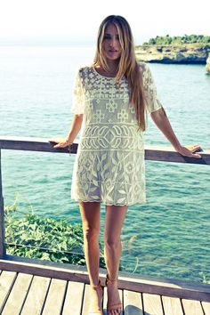 relaxed lace dress for vacation