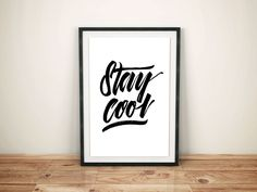 Stay Cool print by foxywanders on Etsy