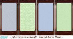 jsf Designs CashcraftVintageCharm Dark #Georgian #Regency #Victorian #vintage #darkwood #damask #TS2 #thesims2 #customcontent #cc