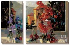 Lake Como View by Ted Goerschner. Canvas Art Set from the Art.com Spring 2014 Catalog, $189.99