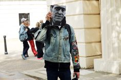 http://chicerman.com  billy-george:  Willem Defoe  Photo by Nam  #streetstyleformen