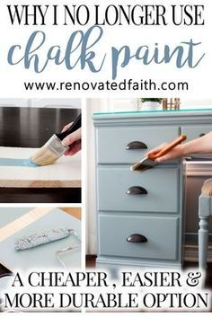 A Better Alternative To Chalk Paint (Best Type of Paint for Wood Furniture), DIY and Crafts, MIND BLOWN! Cost comparison & How to Tutorial! This easier alternative to chalk paint is much cheaper and the surface is much more durable. Refurbished Furniture, Farmhouse Furniture, Repurposed Furniture, Rustic Furniture, Antique Furniture, Modern Furniture, How To Paint Furniture, Painting Old Furniture, Pipe Furniture
