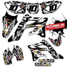 Picture 1 of 4 Honda Dirt Bike, Honda Cr, Kit, Bike Stickers, Metal Mulisha, Cars And Motorcycles, Black And White, Airbrush, Stickers