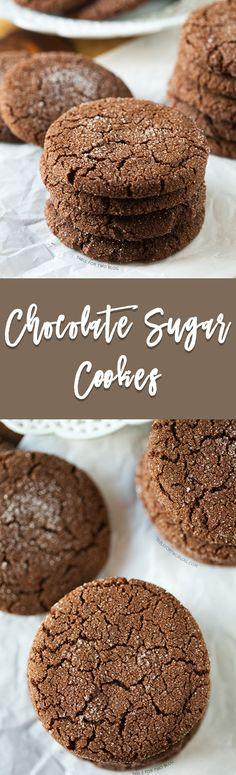A chocolatey twist on the classic sugar cookie! Chocolate sugar cookies are for the chocolate lovers!