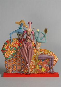 wonderfully whimsical Aristocrats ~ textile dolls by Tatiana Ovchinnikova