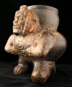 Toltec Plumbate Vessel in the Form of a Hunchback,          Circa: 1000 AD to 1200 AD