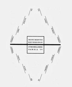 Octavio Paz, Monumento reversible [La forma de este topoema alude a la de las pirámides escalonadas de Mesoamérica y a la de ciertos templos de India y el sudeste de Asia.] —O. Paz