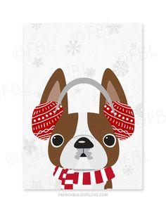 Puppy Muffs French Bulldog Holiday Card - French Bulldog Love - 6