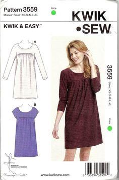 Easy Knit Dress Pattern : Burda 6935 Sewing Pattern 3 Option Kaftan Beach Cover Dress Ladies Size 6-32 ...
