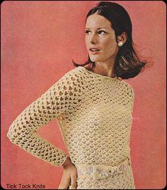 No.223 PDF Crochet Pattern Vintage  Women's от TickTockKnits