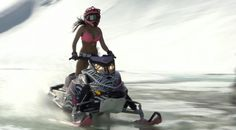 If I ever see this snowmobiling I might not go home!