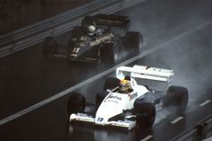Elio de Angelis, Lotus 95T - Ayrton Senna, Toleman TG184 - Mônaco - 1984.