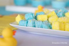 Rubber Ducky themed baby shower party treat ideas