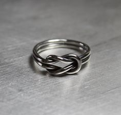 Sailor Knot Ring Lovers Knot Ring by JenniferWood on Etsy