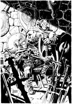 Giuseppe De Luca: Dragonero illustrazione Ian e Gmor
