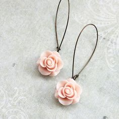 Rose bud earrings posted by A Pocket of Posies  on The Wedding Pages.