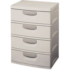 4 drawer plastic storage chest walmart | Sterilite Storage Cabinet, 4-Drawer - Walmart.com