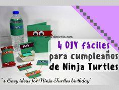 4 DIY fáciles para cumpleaños de Ninja Turtles #busymom