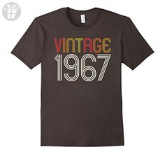 Mens Retro Vintage 1967 - 50th Birthday T-Shirt Large Asphalt - Birthday shirts (*Amazon Partner-Link)