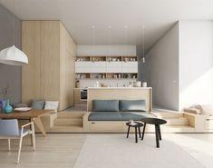 appartement studio exclusfi avec cuisine en I chic Patricia Bagienski