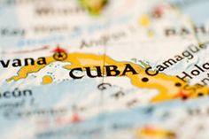 Cuba Map Royalty Free Stock Image