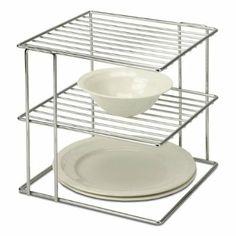 Organize It All Chrome Corner-Shelf 1824