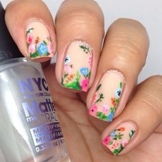 Nailpolis Museum of Nail Art | Summer floral by anas_manis