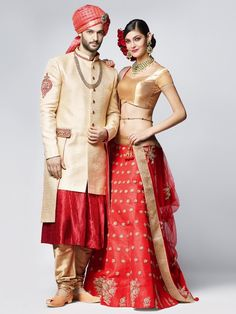 This product available only at  G3+ Sutaria, Ghoddod Road Store Shop Red And Gold Bridal Lehenga Choli By G3+ Video Shopping