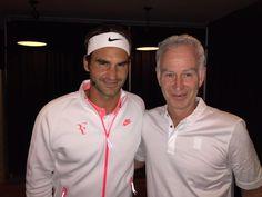 Roger Federer and John MacEnroe