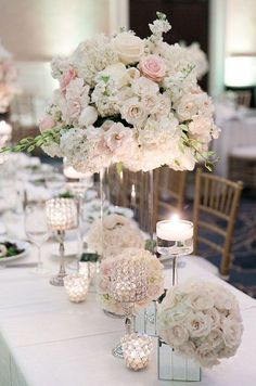 Glamorous wedding centerpiece idea; photo: Arte de Vie                                                                                                                                                     More