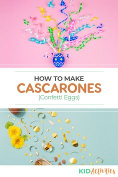 A step-by-step guide on how to make the famous cascarone eggs. These popular eggs are also known as confetti eggs and can be used for various celebrations such as Easter, birthday parties, and New Years celebrations. Holiday Activities For Kids, Games For Toddlers, Easter Activities, Summer Activities, Quick And Easy Crafts, Diy Arts And Crafts, Crafts To Make, Crafts For Kids, Confetti Eggs