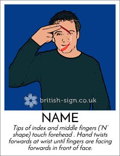 Today's #BritishSignLanguage sign is: NAME #NameTagDay