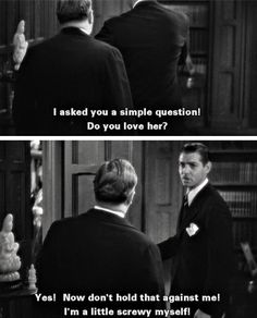 love this movie - screwball Classic Movie Quotes, Best Movie Quotes, Film Quotes, Classic Movies, Old Movies, Vintage Movies, Great Movies, Cinema Quotes, It Happened One Night