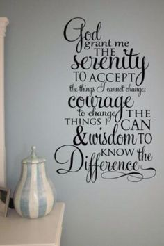 Wall Decal Sticker Words Scripture Serenity Prayer Wall Decal Quote Bible  Verse  I Want This Behind My Couch!