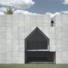 House with Court / K+S Architects Squish Studio / Saunders Architecture - ? - Negative House, photo by db via Fl. Architecture Design, Residential Architecture, Contemporary Architecture, Amazing Architecture, Installation Architecture, Minimalist Architecture, Building Architecture, Interior Exterior, Exterior Design