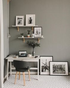 Adorable Best White Small Home Office Design Ideas To Have Asap Home Office Space, Home Office Design, Home Office Decor, Home Decor, Cozy Home Office, Office Ideas, Small Apartment Interior Design, Modern Office Decor, Home Office Colors