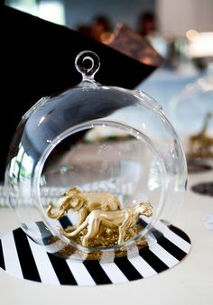 DIY Gold Toy Animal Globes 2