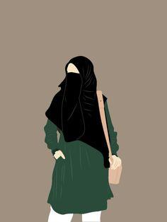 Cover Wallpaper, Cute Wallpaper Backgrounds, Cartoon Wallpaper, Muslim Pictures, Fashion Model Drawing, Moslem, Hijab Drawing, Islamic Cartoon, Anime Muslim