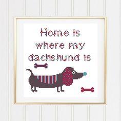 Dachshund cross stitch pattern/dachshund chart/dog lover