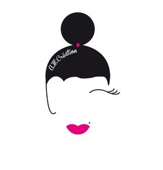 logo, design graphic, logotype, helloelocom, helloelocom.com, illustrator, glamour, retro, vintage for make-up artist. Cette image appartient à son auteur pour plus de renseignements helloelocom.com.