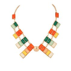 Give a boost to the elegance of your personality with this alluring  colourful golden chain necklace 8c019e1166be