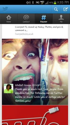 Awww GloZell got a follow from Liam on twitter ♡ peopleschoice.co/... DIRECTIONERS NEED TO WIN! VOTE! VOTE! VOTE!!!!!
