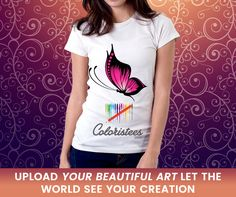 Here you will get new quality #fabric #T-shirt of your own #personalized design with coloristees.com.