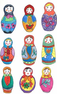 how to draw matryoshka dolls | Via Patricia Cosimi