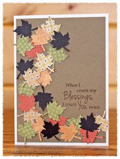 Great fall card.